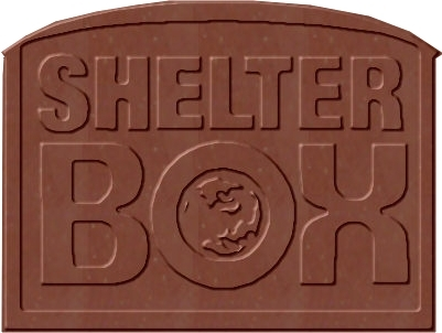 Shelter Box Custom Shaped Chocolate Bar for Fund Raising